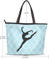 JSTEL Woen Large Tote Top Handle Shoulder Bags Gynastics Silhouette Leap Ladies Handbag
