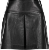 Alexander Wang Pleated leather mini skirt