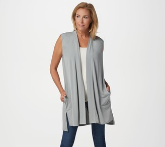Susan Graver Every Day by Liquid Knit Open Front Vest