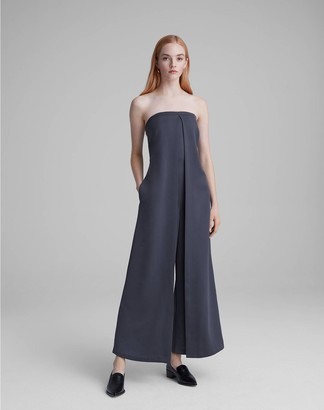 Club Monaco Strapless Satin Jumpsuit