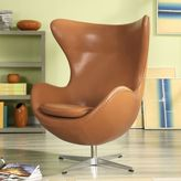 Modway Glove Lounge Chair in Terracotta