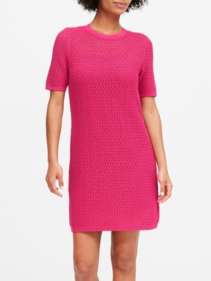 Banana Republic Pointelle Sweater Dress