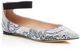 Furla Electra Ankle Strap Pointed Toe Flats