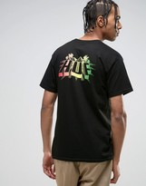 Huf T-shirt With Pyramid Logo Back Print