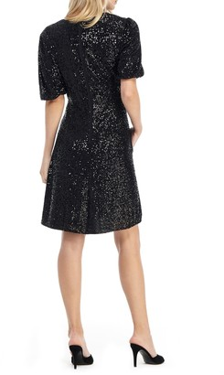 Gal Meets Glam Sequin Fit & Flare Dress