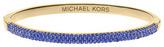Michael Kors Camille Pave Bangle, Sapphire/Golden
