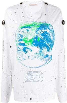 Christopher Kane earth long-sleeve T-shirt