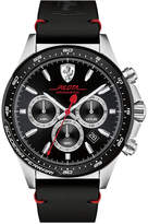 Ferrari Men's Chronograph Pilota Black Leather Strap Watch 45mm 0830389