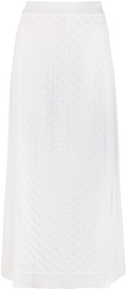 Loro Piana Diamond Knit Midi Skirt
