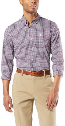 Dockers Mens Long Sleeve Button-Front Shirt