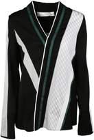 Victoria Beckham Striped Wrap Blouse