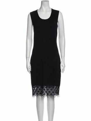 Oscar de la Renta 2013 Knee-Length Dress Wool