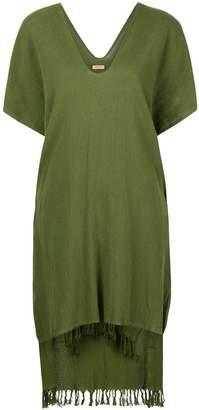 Caravana jute fringed poncho dress
