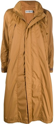 Issey Miyake hooded A-line raincoat