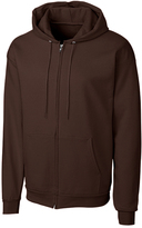 Clique Dark Brown Fleece Zip-Up Hoodie - Unisex
