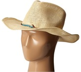 San Diego Hat Company PBC2442 Cowboy Hat with Cord Tie and Turquoise Trim