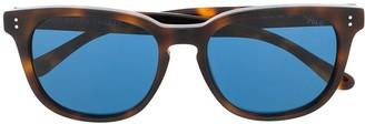 Polo Ralph Lauren Tortoiseshell Effect Square Frame Sunglasses