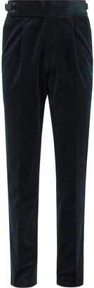 Navy Cotton-Corduroy Suit Trousers