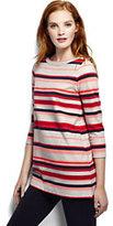 Classic Women's Tall Starfish Boatneck Tunic Top-Multi Color Yarn Print