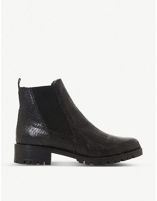 Dune Powerful block-heel ankle boot