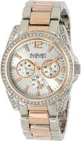 August Steiner Women's AS8075TTR Analog Display Japanese Quartz Two Tone Watch