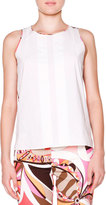 Emilio Pucci Sleeveless Top W/ Printed Back