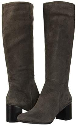 Kenneth Cole New York Justin Mid Riding Boot (Black Leather) Women's Shoes