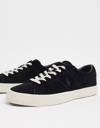 Polo Ralph Lauren sayer suede sneaker in black