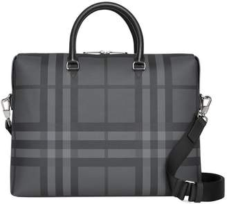 Large London Check Briefcase