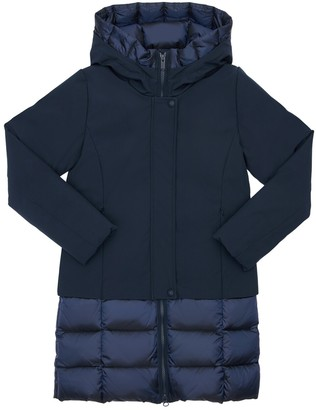 Bomboogie Hooded Stretch Nylon Coat
