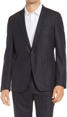 HUGO BOSS Haven Classic Fit Stretch Wool & Silk Sport Coat