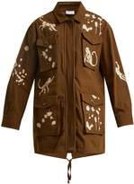 RED Valentino Monkey-print cotton military jacket