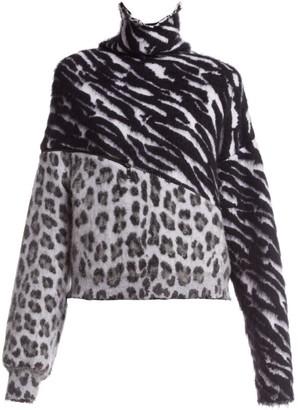 Unravel Project Zebra & Leopard-Print Sweater