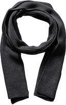 Portolano Men's Dark Charcoal Merino Wool Scarf