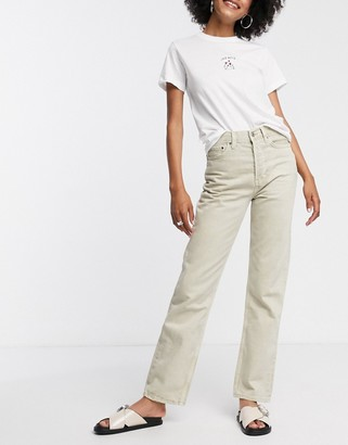 Topshop dad jeans in off white