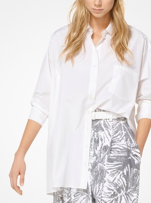 Michael Kors Silk and Cotton Taffeta Shirt