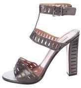 Alaia Cutout Leather Sandals