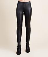 Blu Heaven Black Faux Leather Leggings