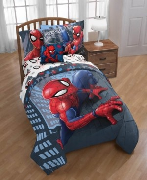 Spiderman Marvel Crawl 6pc Twin Bed In A Bag Bedding