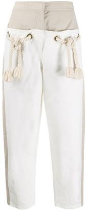 Stella McCartney Amanda rope-detail panelled trousers