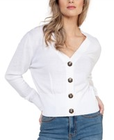 Womens Button Down V neck Sweaters | Shop the world's