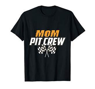Mom-Pit-Crew Funny Hosting Car Race Birthday Party T-Shirt