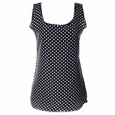 QIYUN.Z Summer Fashion Sleeveless Women Chiffon Printed Loose Vests Bottoming Tops Chemises