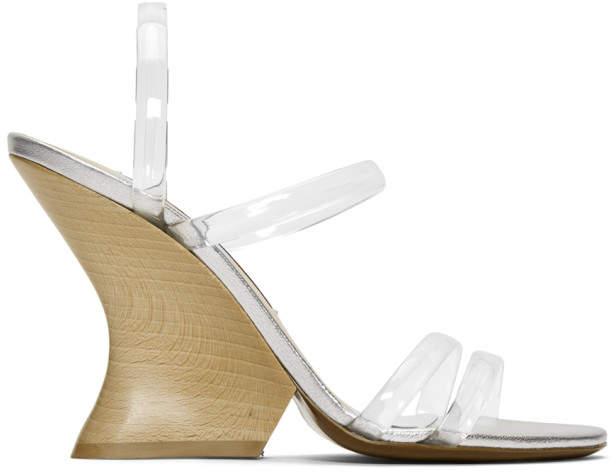 ALEXACHUNG Transparent Perfect Wedge Sandal