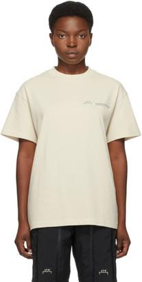 A-Cold-Wall* Beige Bracket T-Shirt