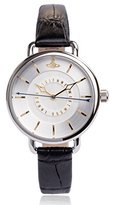 Vivienne Westwood Women's VV076SLBK Gainsbourgh Stainless Steel Watch with Black Leather Band