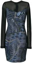 Just Cavalli Cracking Beauty print dress