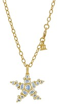 Temple St. Clair 18K Yellow Gold Medium Sea Star Pendant with Royal Blue Moonstone and Diamonds