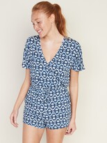 Old Navy Tie-Waist Swim Cover-Up Romper for Women