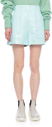 Tibi Leather Cargo Shorts